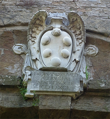 Medici family coat of arms.