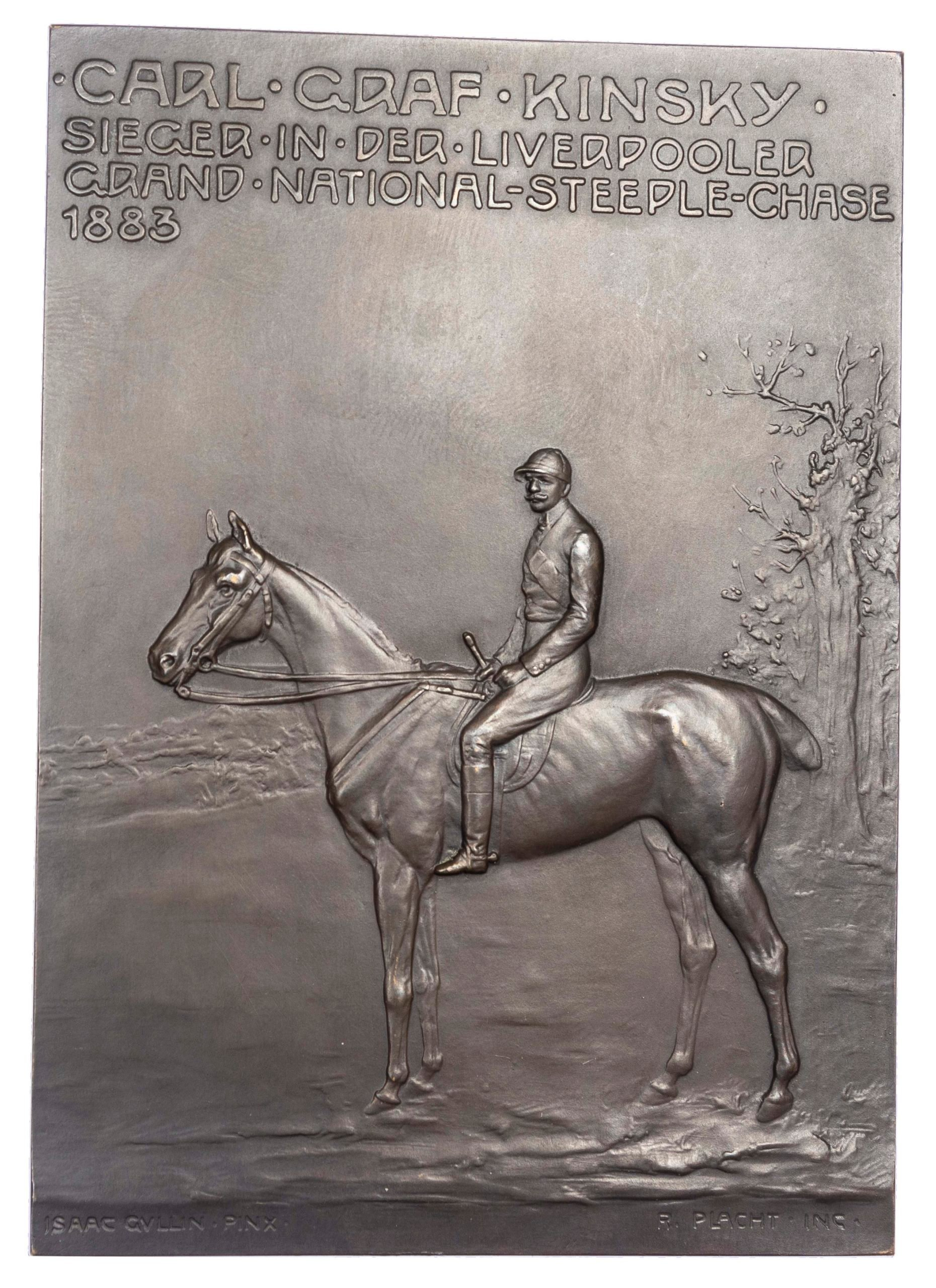 Austria, Winner of the Grand National 1883 – Count Kinsky on Zoedone, AE plaque 1908