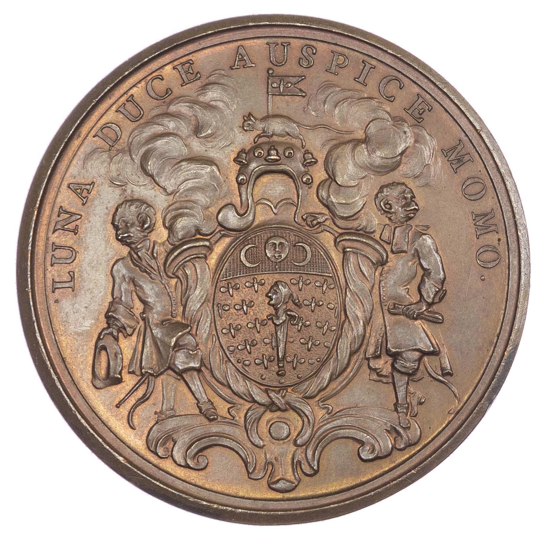 France/USA, Regiment de la Calotte/John Law's Mississippi Bubble, AE medal 1720