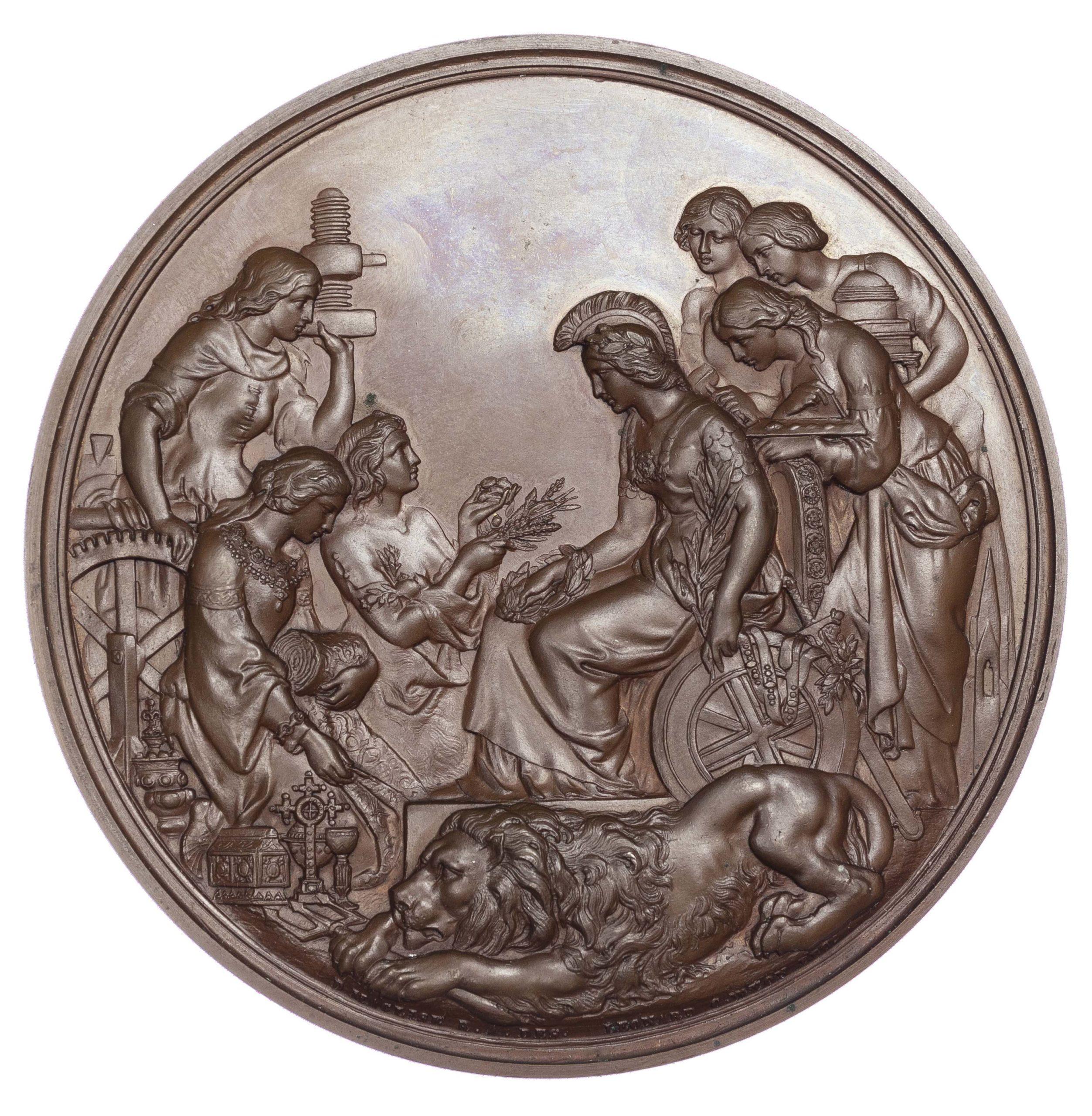 Victoria, 1862 International Exhibition London – Jurors' medal, AE medal
