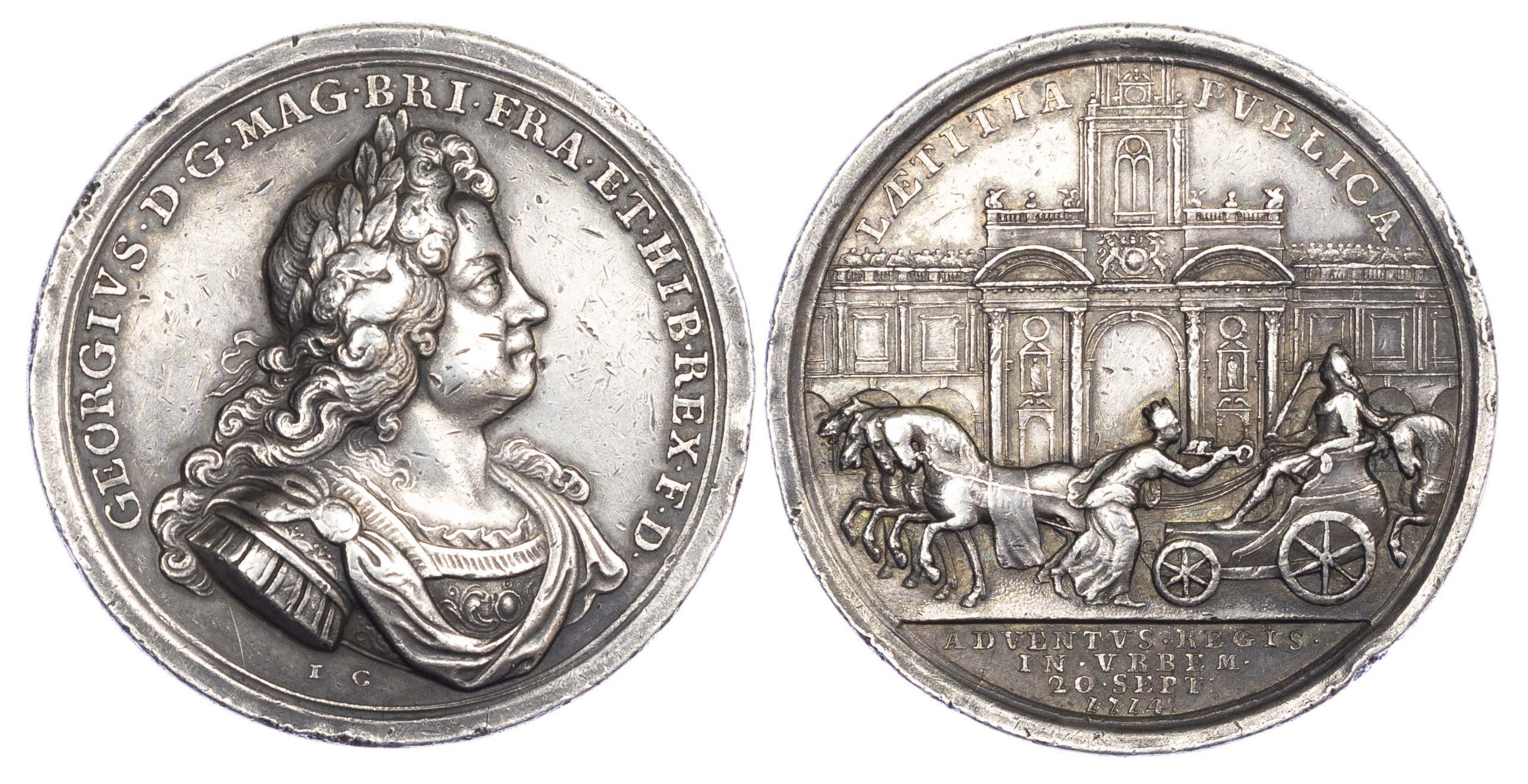 George I, Entry into London 1714, AR medal