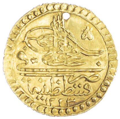 Ottoman Empire, Mahmud II (1808-1839), gold Zeri Mahbub - Qustantiniya