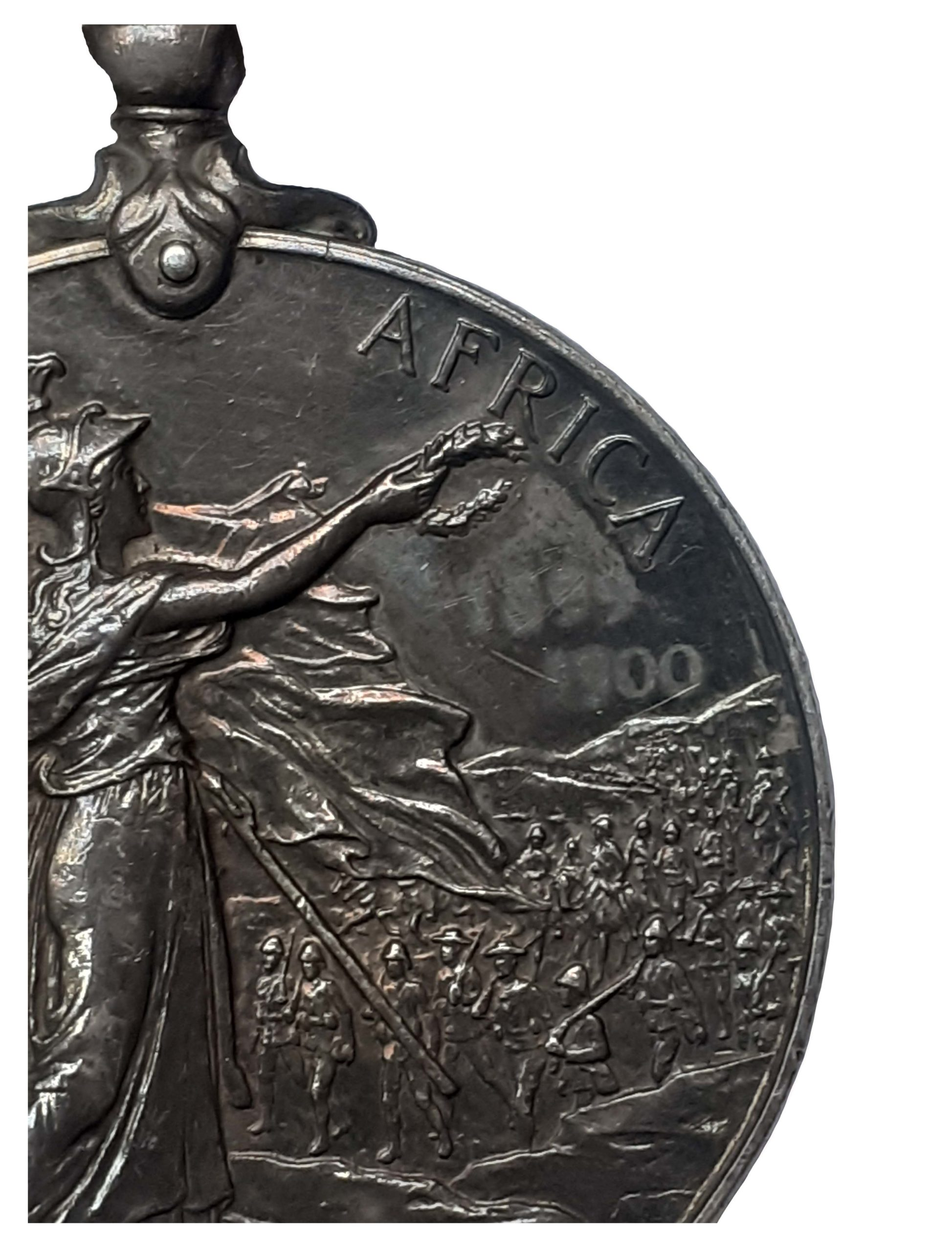 A Talana and Defence of Ladysmith Queen's South Africa Medal, 2nd type Ghost Dates, 4 clasps, Talana, Defence of Ladysmith, Orange Free State, Transvaal, to Private John Watson