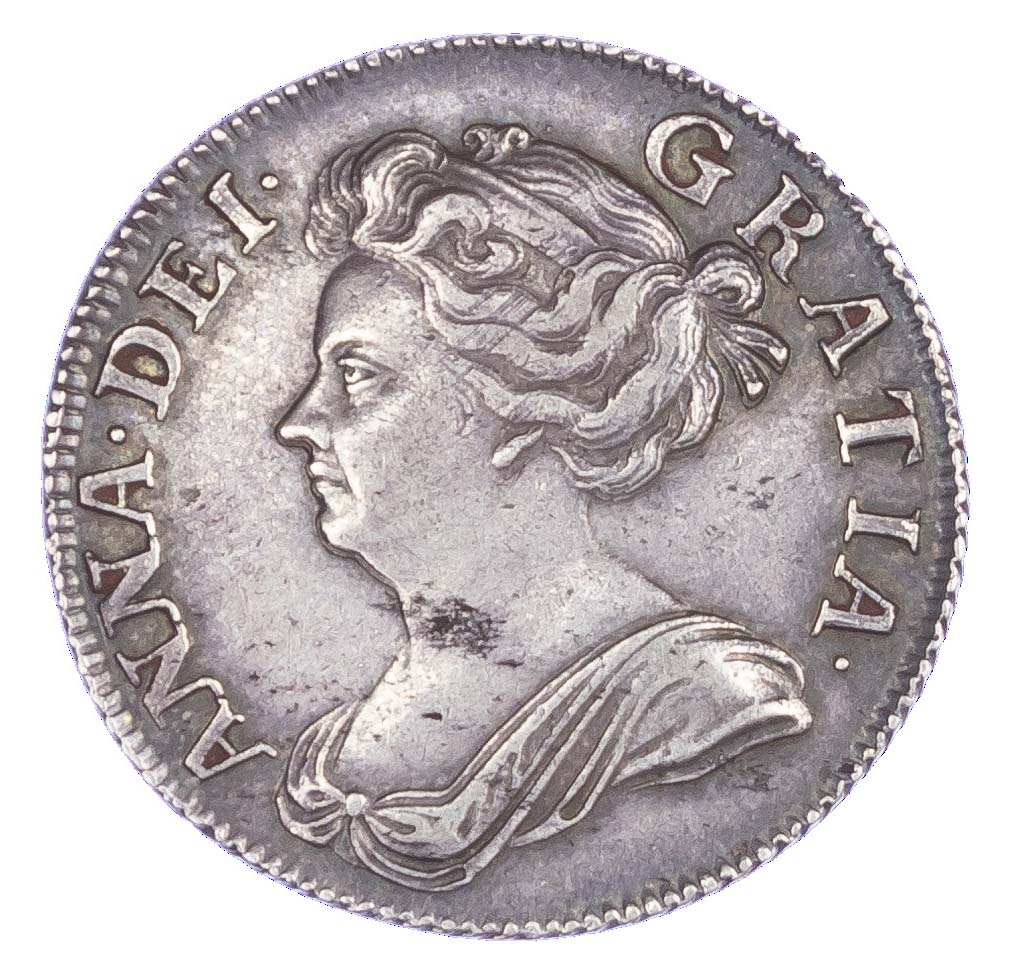 Anne (1702-14), Shilling, 1707, post union, third bust