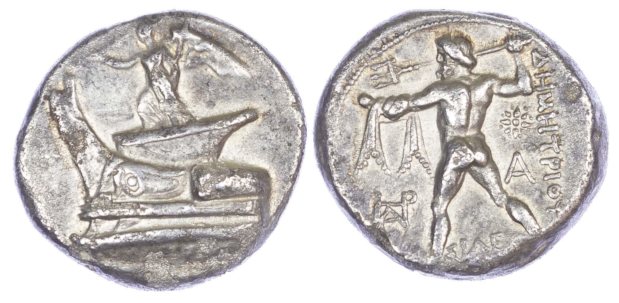 Demetrios Poliorketes, Silver Tetradrachm