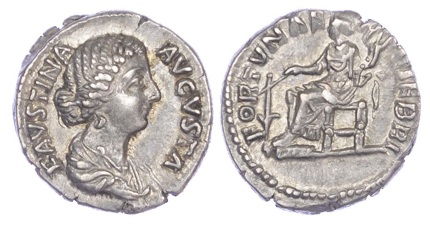 Faustina Junior, Silver Denarius