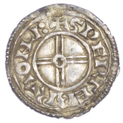 Canute (1016-35), Penny, Short cross type, Lincoln Mint, Lance in lieu of sceptre variety.