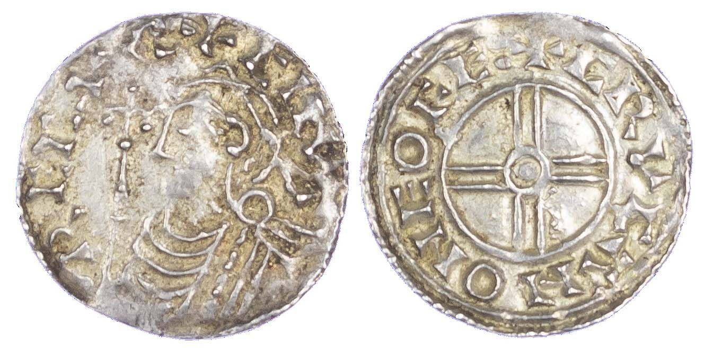 Canute (1016-35), Penny, Short cross type, York, moneyer Crucan