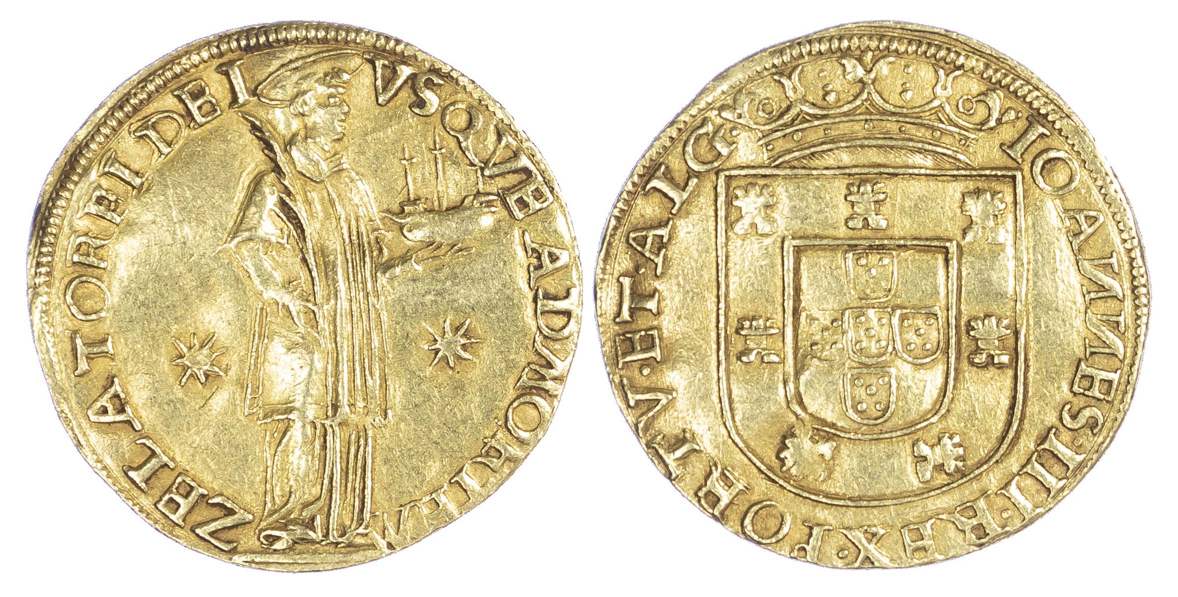 Portugal, João III (1521-57), gold São Vicente / 1,000-Reais, 1555