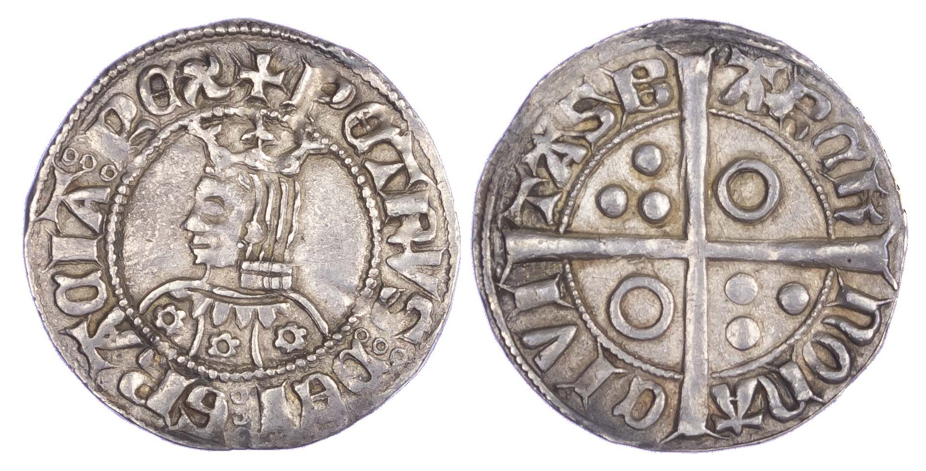 Spain, Pere III (1336-87), silver Croat, Barcelona - extremely fine
