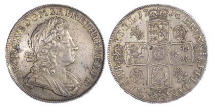 George I (1714-27), Crown, 1716, Roses & Plumes