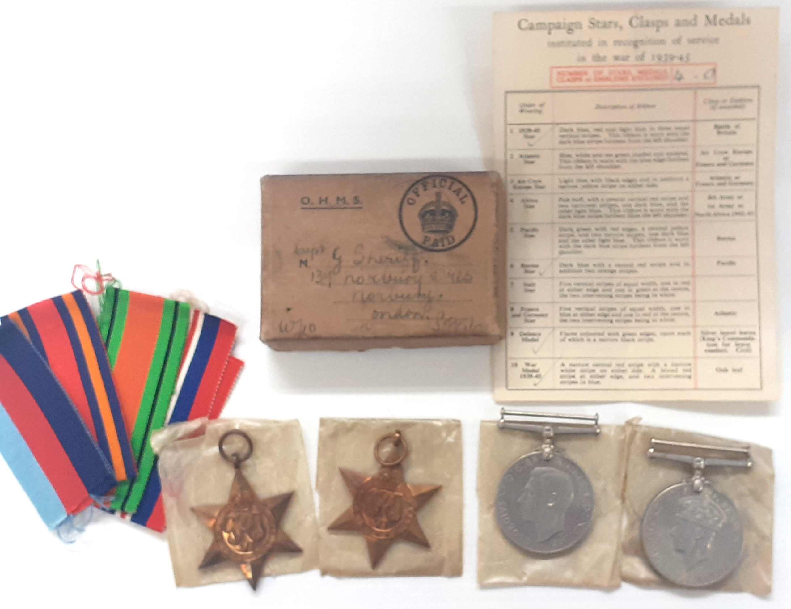 A Burma Star Officers Group attributed to Captain George Sherriff