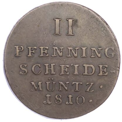 Germany, Westphalia, Hieronymus Napoleon (1807-1813), copper 2 Pfennige