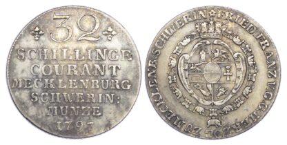 Germany, Mecklenburg-Schwerin, Friedrich Franz I (1785-1837), silver 32 Schilling, 1797