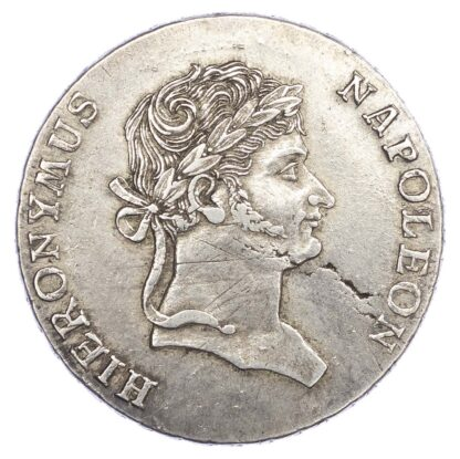 Germany, Westphalia, Hieronymus Napoleon (1807-1813), silver Convention Thaler, 1812